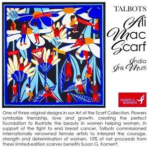 Talbots Ali Mac Scarf India Ink Multi